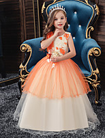 cheap -Princess Dress Girls' Movie Cosplay Cosplay Halloween Orange / Blue / Pink Dress Halloween Carnival Masquerade Tulle Polyester