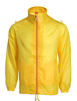 cheap -Men's Hiking Windbreaker Outdoor Waterproof Windproof Quick Dry Comfortable Jacket Top Single Slider Camping / Hiking / Caving Traveling Winter Sports Orange / Yellow / Red / Blue