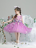cheap -Princess Dress Girls' Movie Cosplay Cosplay Halloween Purple Dress Halloween Carnival Masquerade Tulle Polyester