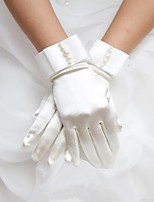 cheap -Bride Fingertips Satin Gloves For Prom Party / Cocktail Halloween Carnival Women's Costume Jewelry Fashion Jewelry