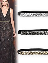 cheap -Spandex Wedding / Dailywear Sash With Crystals / Rhinestones Women's Sashes