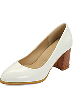 cheap -Women's Heels Chunky Heel Pointed Toe PU Spring &  Fall Black / White / Orange