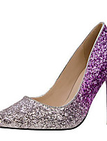 cheap -Women's Wedding Shoes Stiletto Heel Pointed Toe Sequin Synthetics Sweet / British Fall / Spring & Summer Purple / Blue / Pink / Party & Evening