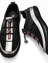 cheap -Men's Comfort Shoes Mesh Fall & Winter Sneakers Color Block Black / Gold