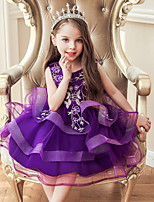 cheap -Princess Dress Girls' Movie Cosplay Cosplay Halloween White / Purple / Red Dress Halloween Carnival Masquerade Tulle Polyester