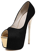 cheap -Women's Heels Stiletto Heel Peep Toe Synthetics Sweet / Minimalism Spring &  Fall / Summer Black / White / Pink / Wedding / Party & Evening