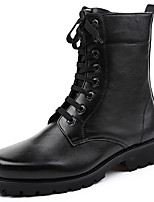 cheap -Men's Fashion Boots Nappa Leather Winter / Fall & Winter Classic / Vintage Boots Warm Mid-Calf Boots Black / Party & Evening