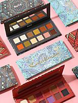 abordables -12 couleurs Fards à Paupières Mat Œil Le fard à paupières Crème Kits Facile à transporter Facile à Utiliser durable Gloss pailleté Longue Durée étanche Maquillage Quotidien Maquillage de Fête