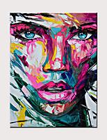 abordables -Peinture à l'huile Hang-peint Peint à la main - Abstrait Personnage Moderne Sans cadre intérieur