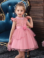 abordables -Princesse Robe Fille Cosplay de Film Cosplay Halloween Vert / Rouge / Bleu Robe Halloween Carnaval Mascarade Tulle Polyester