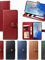 cheap -Case For Samsung Galaxy Note 10/Note 10 Plus/A10s Wallet / Card Holder / with Stand Full Body Cases Solid Colored PU Leather For Galaxy A20S/S20/S20 Plus/S20 Ultra/A51/A71/A81/A91/A70S