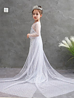 cheap -Princess Dress Girls' Movie Cosplay Halloween White Dress Halloween Children's Day
