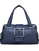 cheap -Women's Buttons PU Top Handle Bag Solid Color Black / Purple / Blue