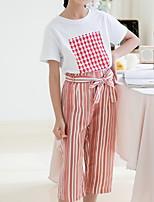 cheap -Kids Girls' Basic Striped Long Sleeve Clothing Set White