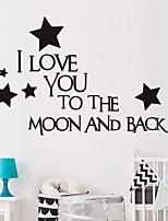 cheap -Characters / Stars Wall Stickers Plane Wall Stickers Decorative Wall Stickers, PVC Home Decoration Wall Decal Wall / Window Decoration 1pc