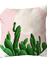 cheap -1 pcs Polyester Pillow Cover Nordic Ins Sofa Sitting Room Pink Flame Bird Cactus Pillow Cushion Office Pillow Headrest Pillow