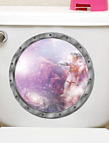 cheap -Interstellar Space Style Toilet Seat Wall Sticker Art Bathroom Decals Decor PVC Removable Home Decor