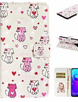 cheap -Case For Huawei Honor 10 Lite /Honor 7A / Mate 10 lite Wallet / Card Holder / with Stand Full Body Cases Cat PU Leather For Huawei Mate 20 lite/Y6 2018/Mate 30 lite/Mate 30 Pro/Mate 30/Mate 20 Pro
