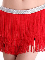 cheap -Latin Dance Bottoms Women's Performance Polyester Tassel Skirts