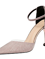 cheap -Women's Heels Stiletto Heel Pointed Toe Bowknot Synthetics Sweet / British Summer / Spring & Summer Black / Champagne / Gold / Party & Evening