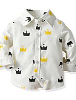 cheap -Kids Toddler Boys' Basic Street chic Geometric Long Sleeve Shirt White