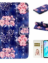 cheap -Case For Huawei P20 Pro / Huawei P20 lite / Huawei P30 Wallet / Card Holder / with Stand Full Body Cases Flower PU Leather For Huawei P30 Lite/P30 Pro/P8 Lite 2017/P10 Lite