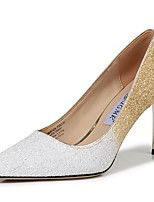 cheap -Women's Heels Stiletto Heel Pointed Toe Sequin Synthetics Sweet / British Fall / Spring & Summer Black / White / Pink