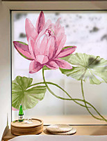 cheap -Big Pink Flowers Window Film & Stickers Decoration Matte / Floral Floral / Flower / Floral PVC(PolyVinyl Chloride) Matte Sticker / Window Sticker / Matte