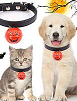 cheap -Dog Cat Collar With Bell Casual Cute Cartoon PU Leather Metal Black Husky Labrador Alaskan Malamute Golden Retriever Dalmatian Border Collie