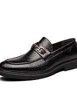 cheap -Men's Fashion Boots Rubber Spring & Summer Casual / British Loafers & Slip-Ons Walking Shoes Breathable Black
