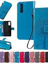 cheap -Case For Samsung Galaxy S9 / S9 Plus / S8 Plus Wallet / Card Holder / with Stand Full Body Cases Solid Colored / Tree PU Leather