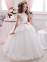 cheap -Princess Flower Girl Dress Girls' Movie Cosplay Cosplay Halloween White Dress Halloween Carnival Masquerade Tulle Lace Polyester