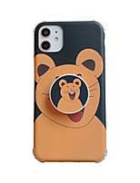 cheap -Case For Apple iPhone 11 / iPhone 11 Pro / iPhone 11 Pro Max Shockproof / Dustproof / with Stand Back Cover Animal / Cartoon TPU