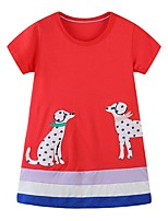 cheap -Kids Girls' Animal Dress Red