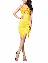 cheap -Latin Dance Dresses Women's Performance Polyester Tassel / Appliques Dress