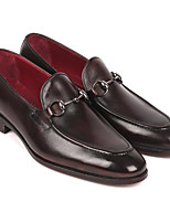 cheap -Men's Formal Shoes Microfiber Fall & Winter Loafers & Slip-Ons Black