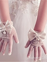 cheap -Gloves Lace Fingertips Satin For Bride Cosplay Halloween Carnival Girls' Costume Jewelry Fashion Jewelry