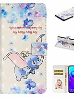 cheap -Case For Huawei Honor 10 Lite /Honor 7A / Mate 10 lite Wallet / Card Holder / with Stand Full Body Cases Animal PU Leather For Huawei Mate 20 lite/Y6 2018/Mate 30 lite/Mate 30 Pro/Mate 30/Mate 20 Pro