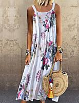 cheap -Women's Elegant Shift Dress - Geometric Blushing Pink Green M L XL XXL