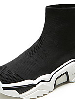 cheap -Women's Boots Platform Round Toe Tissage Volant Booties / Ankle Boots Spring & Summer Black / White