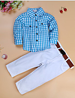 cheap -Kids Boys' Basic Color Block Long Sleeve Clothing Set Blue