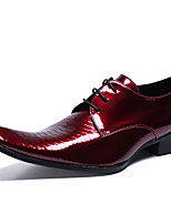 cheap -Men's Formal Shoes Nappa Leather Spring & Summer / Fall & Winter Casual / British Oxfords Non-slipping Wine / Party & Evening