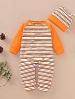cheap -Baby Girls' Basic Striped Long Sleeve Overall & Jumpsuit Yellow