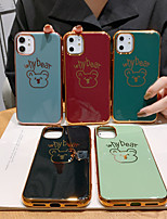 cheap -Case For Apple iPhone 11 / iPhone 11 Pro / iPhone 11 Pro Max Shockproof / Pattern Back Cover Solid Colored / Animal / Cartoon PC