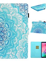 cheap -Case For Samsung Galaxy Tab A2 10.5(2018) / Samsung Tab A 10.1(2019)T510 / Samsung Tab A 8.0(2019)T290/295 Card Holder / with Stand / Flip Full Body Cases Flower PU Leather For Galaxy T720