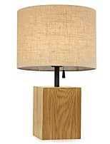 cheap -Modern Contemporary Decorative Table Lamp For Bedroom 220V Wood / White