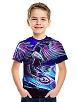 cheap -Kids Boys' Active Street chic 3D Print Short Sleeve Tee Purple
