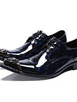 cheap -Men's Formal Shoes Nappa Leather Spring & Summer / Fall & Winter Casual / British Oxfords Non-slipping Black / Blue / Party & Evening