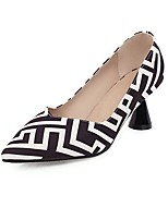 cheap -Women's Heels Flared Heel Pointed Toe Synthetics Spring &  Fall White / Blue / Pink