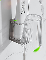 cheap -Toothbrush Holder Toothpaste Frame Tooth Mug Rinsing Mug Holder Strong Viscosity Adhesive Without Drilling Rustproof Self-adhesive 304# Stainless Steel 3M15